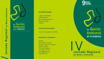 IV Jornada Regional de medio ambiente. Gestión ambiental en la empresa