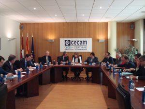 Lee más sobre el artículo El Comité Ejecutivo de CECAM traslada las preocupaciones del sector empresarial a María Dolores de Cospedal