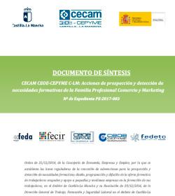 Acciones de prospección y detección de necesidades formativas de la Familia Profesional Comercio y Marketing. N.º de Expediente PE-2017-003