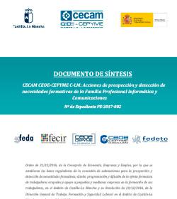 Acciones de prospección y detección de necesidades formativas de la Familia Profesional Informática y Comunicaciones. N.º de Expediente PE-2017-002