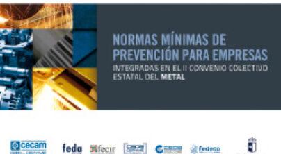 Normas mínimas de PRL para las empresas del sector del metal