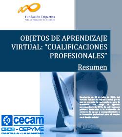 Objetos de Aprendizaje virtual 'Cualificaciones Profesionales', enmarcado en la Resolución de 20 de julio de 2010, del Servicio Público de Empleo Estatal