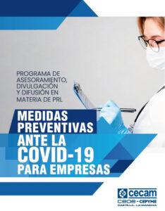 CECAM facilita a las empresas un tríptico informativo de medidas preventivas frente a la COVID-19