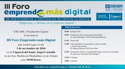 Los emprendedores y empresarios de la región conocerán las tendencias en Marketing Digital en el III Foro Emprende+más Digital
