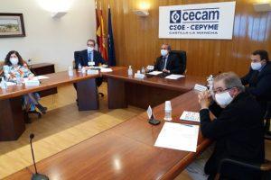 CECAM sigue apostando por el diálogo social para garantizar la recuperación tras un año límite para el tejido productivo de la región