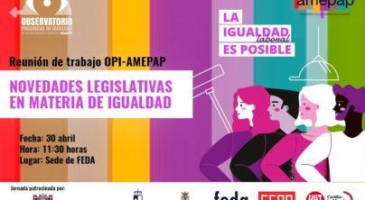 Reunión de trabajo: Novedades legislativas en materia de igualdad